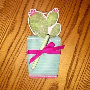 Die-Cut Note Pad - Cactus Pot